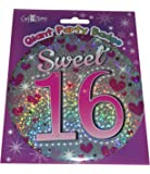 Happy 16th Birthday Giant Mega Party Badge - Sweet 16 by The fancy dress and party store