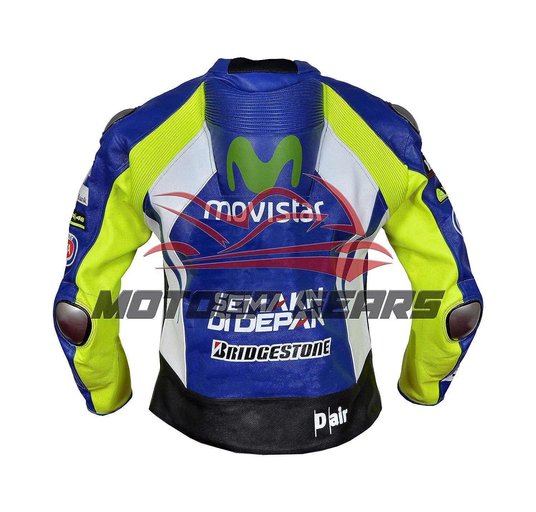 MOTOGPGEARS Valentino Rossi - Chaqueta de piel para motocicleta ...