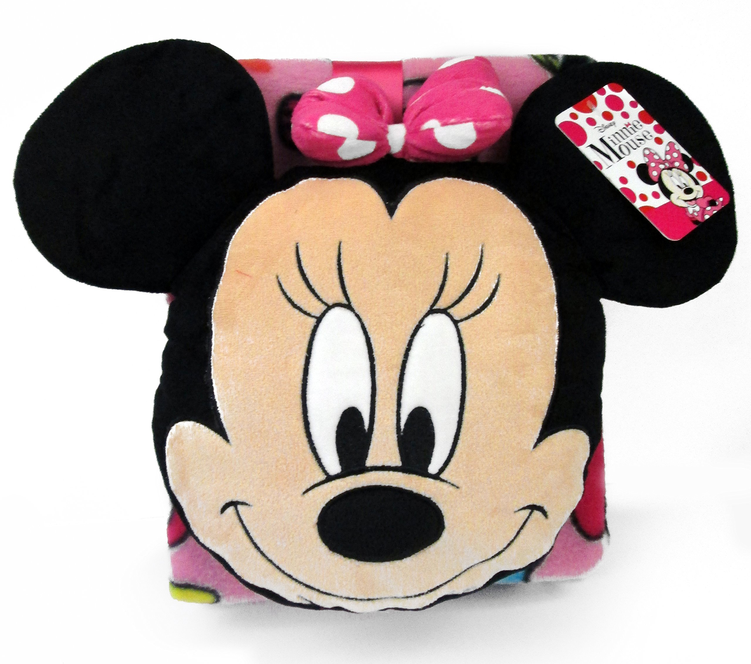 Disney Minnie Mouse Doodle Nogginz Pillow with 40'' x 50'' Travel Blanket Set by Disney (Image #3)