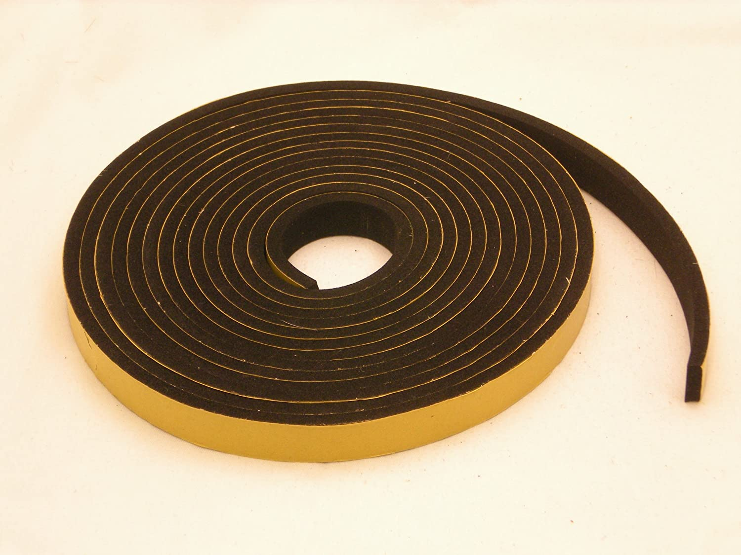 NEOPRENE RUBBER Self Adhesive Strip 3 4 wide x 5 16 thick x 16 feet long
