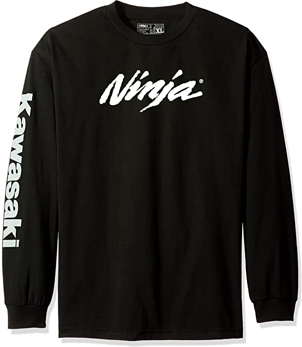 Factory Effex (17-87112) Ninja Long Sleeve T-Shirt (Black, Medium)