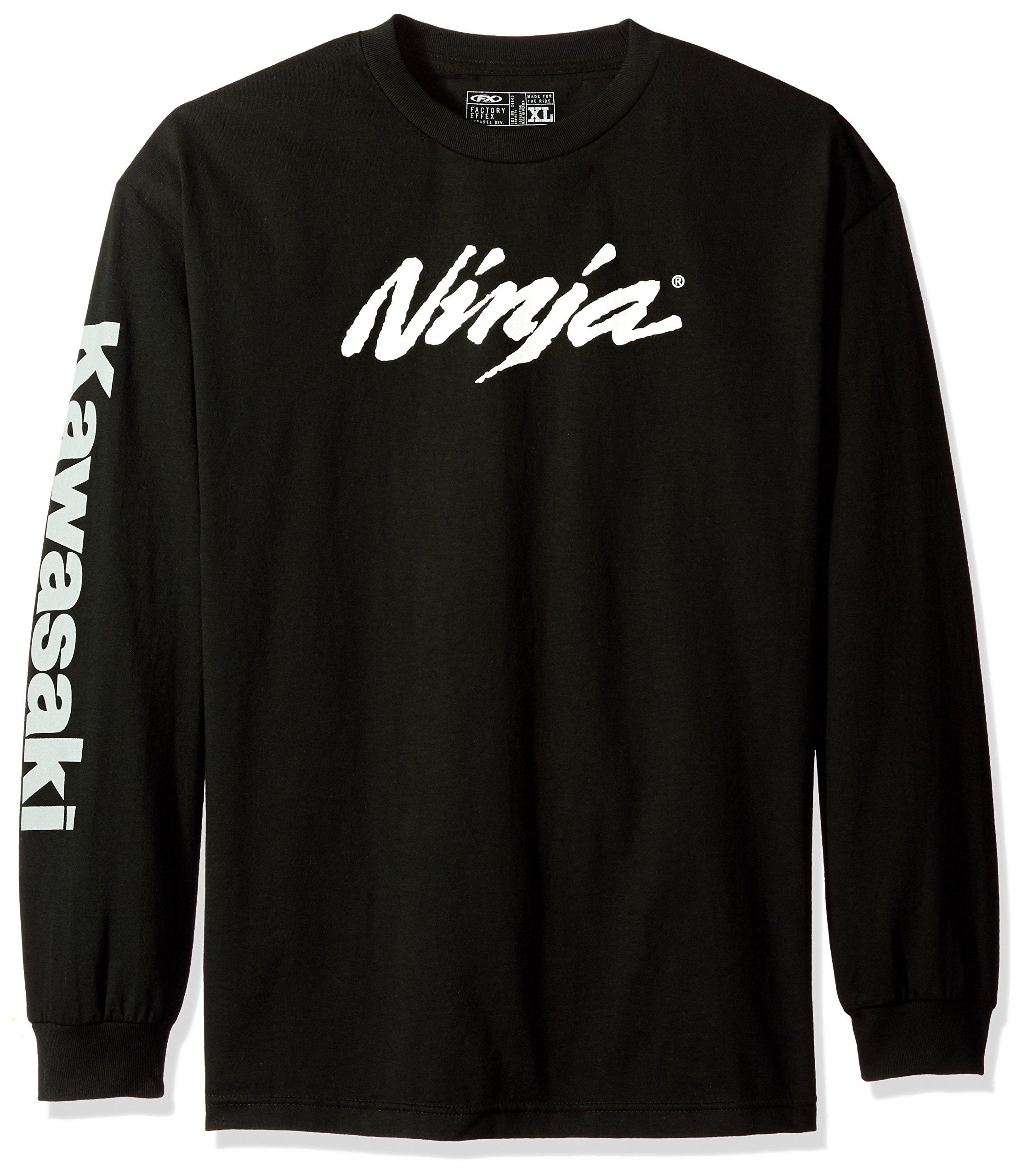 Factory Effex (17-87112) Ninja Long Sleeve T-Shirt (Black, Medium)