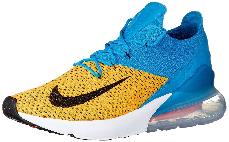 Nike Air Force - Hausschuhe de Gimnasia para Hombre, Farbe schwarz Laser Orange Blau