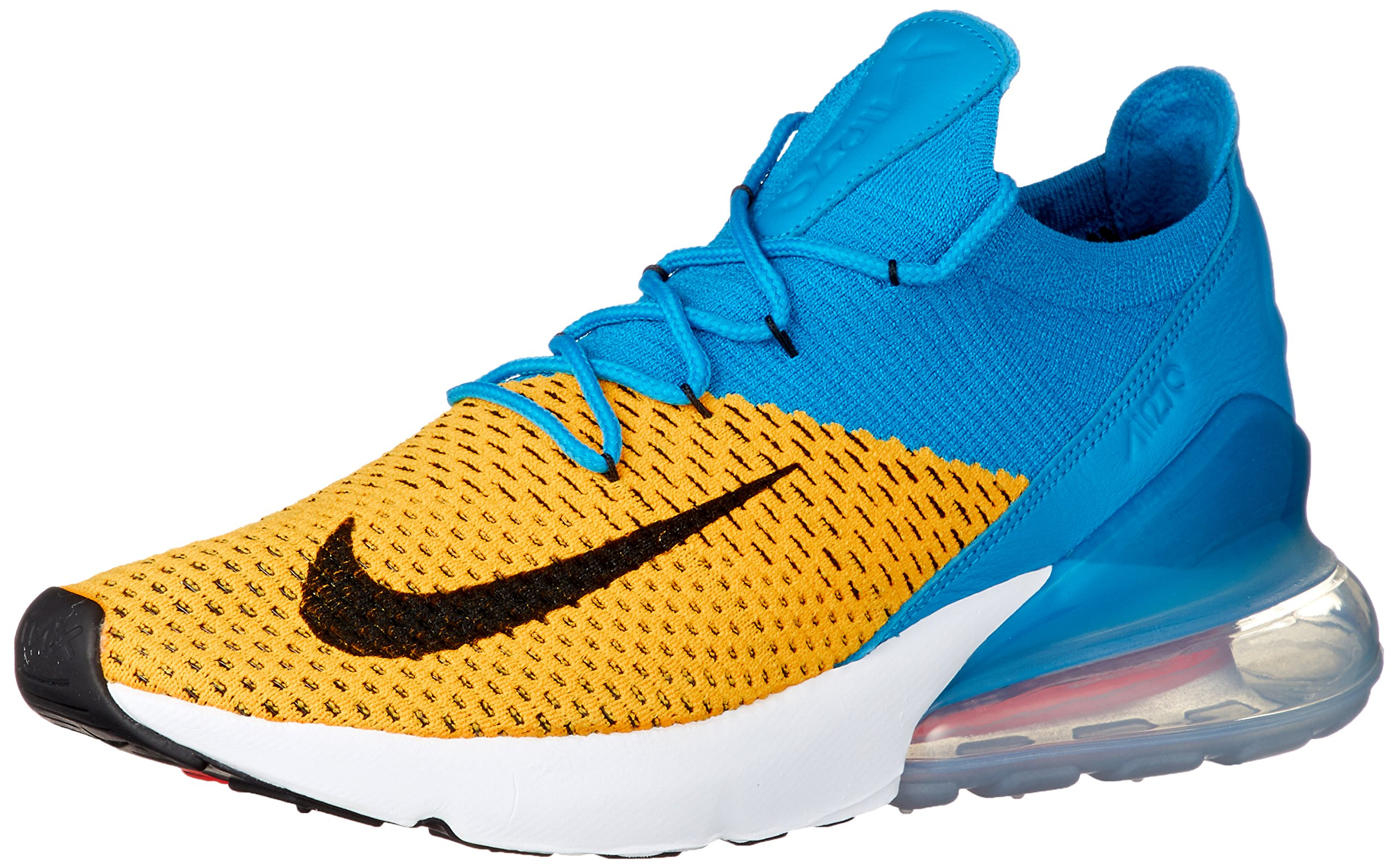 new product 68721 9f435 Nike Mens Air Max 270 Flyknit Laser Orange/Blue Flyknit Size 11
