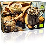 "C&T Advent Calendar 2018 Hot Chocolate (No3) NEW - 24 exciting Italian cocoa powders - ""Fairytale Drinking Chocolate"" in 24 different varieties with refinement tips - Christmas calendar with cocoa specialities to make yourself - Drinks powder"