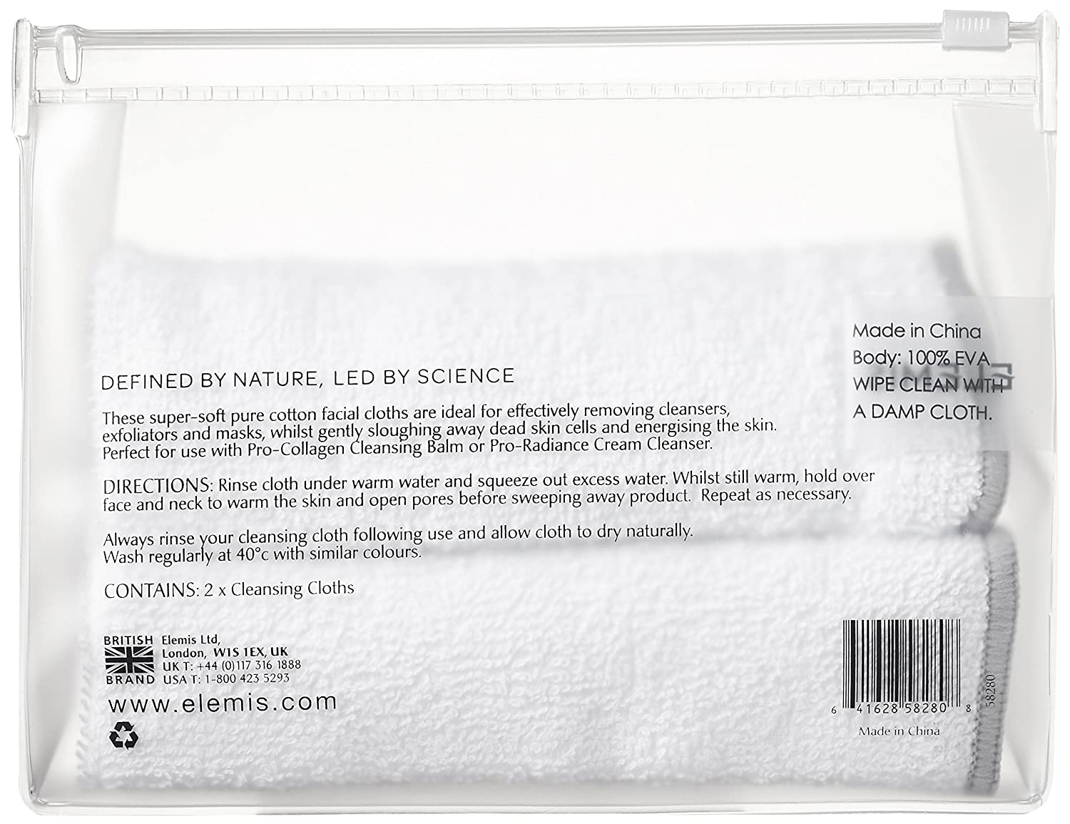 ELEMIS Cleansing Cloth Duo Kit - Pure Cotton Face Cloths 58280