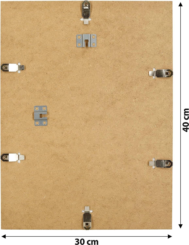 la cuisine Postergaleria Cliprahmen Cadre photo sans cadre en plexiglas pour photos de nombreuses tailles rectangulaires avec clips Id/éal pour le salon 18x24 neutre la salle /à manger Plexi