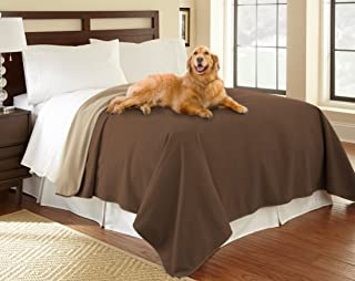 """product image for Mambe 100% Waterproof Furniture Cover for Pets and People (Recliner Throw 70""""x 70"""", Chocolate-Cappuccino) Made in The USA"""