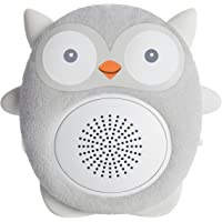 SoundBub White Noise Machine & Bluetooth Speaker, Portable, Rechargeable, Chew-Safe, On-The-Go Infant Shusher, Sensory Sleep-Aid Sound Soother, Baby & Registry Gift by WavHello – Ollie The Owl, Gray