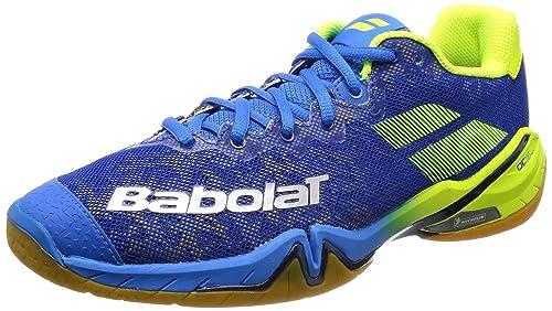 Babolat Zapatillas de Bádminton de Material Sintético para Hombre Azul Azul: Amazon.es: Zapatos y complementos