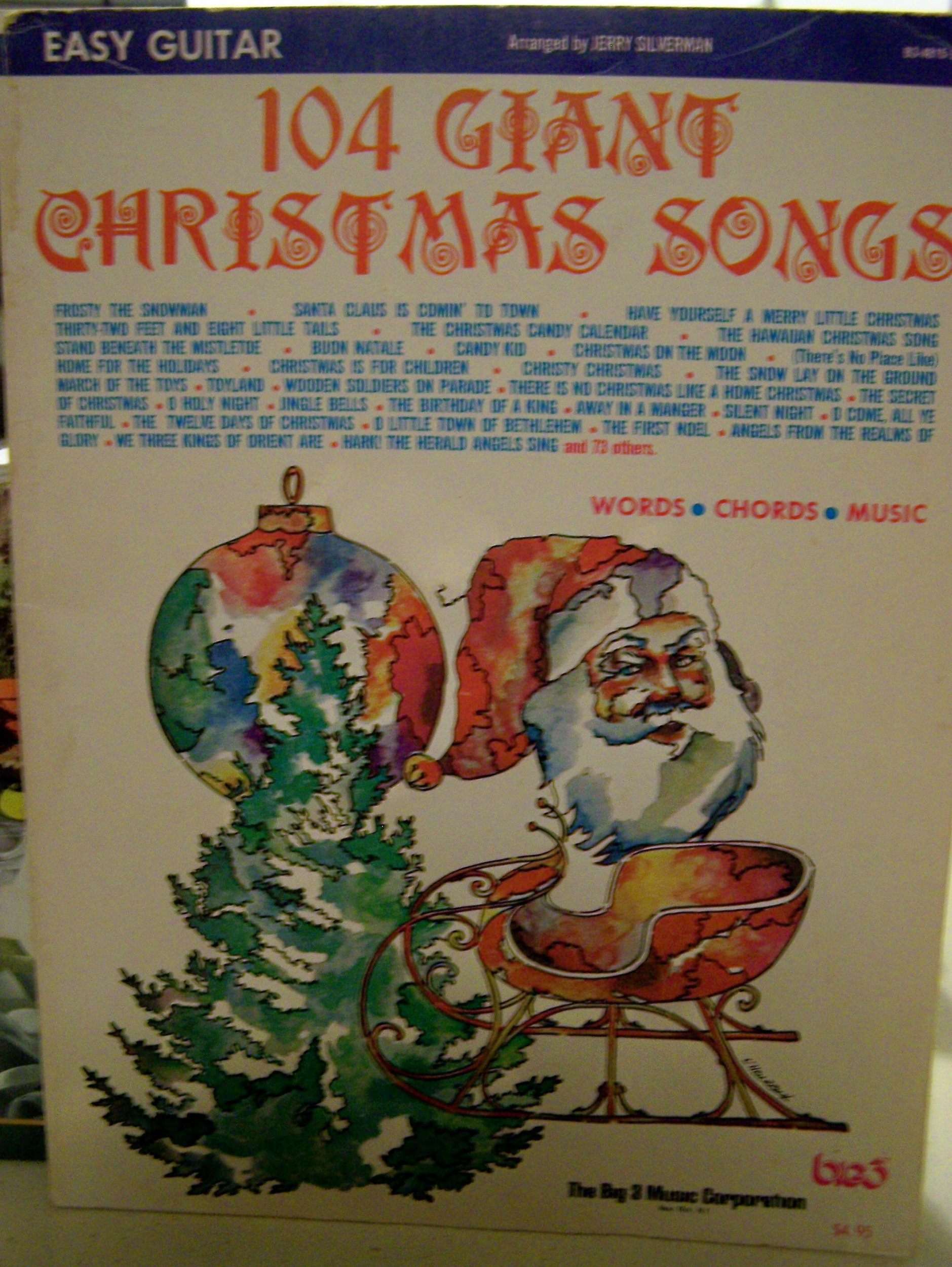 Amazon 104 Giant Christmas Songs Words Chords Music Easy