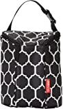 Skip Hop Grab-and-Go Insulated Double Bottle Bag, Onyx Tile
