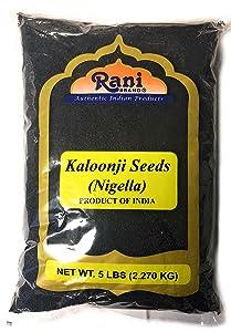 Rani Kalonji Seeds Whole (Black Seed, Nigella Sativa, Black Cumin) Spice 80oz (5lbs) All Natural ~ Gluten Free Ingredients   NON-GMO   Vegan   Indian Origin