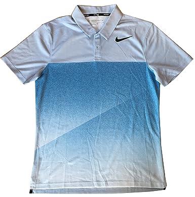 80a1fd17 Nike Dri Fit Mens Dry Slim Fade Short Sleeve Golf Polo Shirt (Medium, Blue)  at Amazon Men's Clothing store: