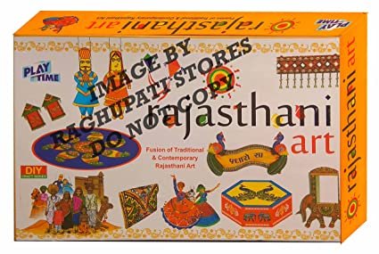 Rajasthani art game for kids craft kits do it yourself drawing rajasthani art game for kids craft kits do it yourself drawing painting kit solutioingenieria Images