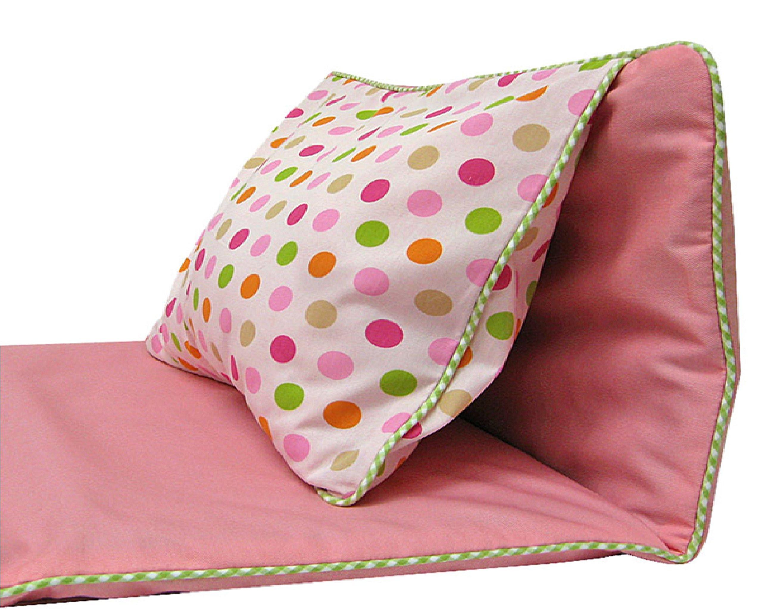 3Marthas Boutique Children Toddler Canvas Nap Mat (Pink - Dots)