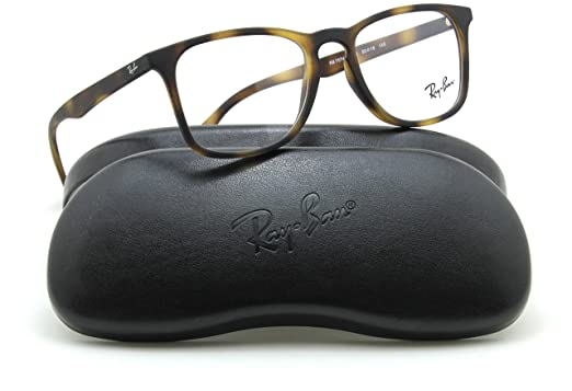 a666e4ec58 Image Unavailable. Image not available for. Color  Ray-Ban RX7074 Square  Unisex Prescription Eyeglasses ...