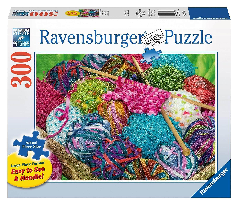 Ravensburger 13572 - Buntes Strickzeug - 300 Teile Puzzle mit extragroßen Teilen