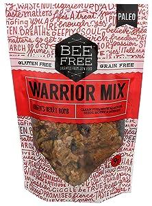 BeeFree Warrior Mix Gluten Free Granola | Grain Free, Keto Friendly, Paleo Granola Mix | Dairy Free, Preservative Free, Oat Free, Junk Free | Hagen's Berry Bomb, 9 Oz Bag