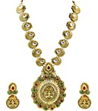 Zaveri Pearls Goddess Shilp Shastra Temple Long Antique Necklace Set For Women - ZPFK4634