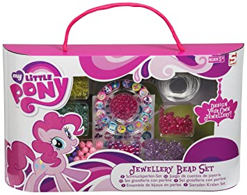 my little pony bead jewellery making set kids make your own charm