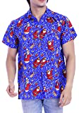 Virgin Crafts Christmast Shirts for Men Women Santa Casual Beach Vacation Aloha Hawaiian Shirt
