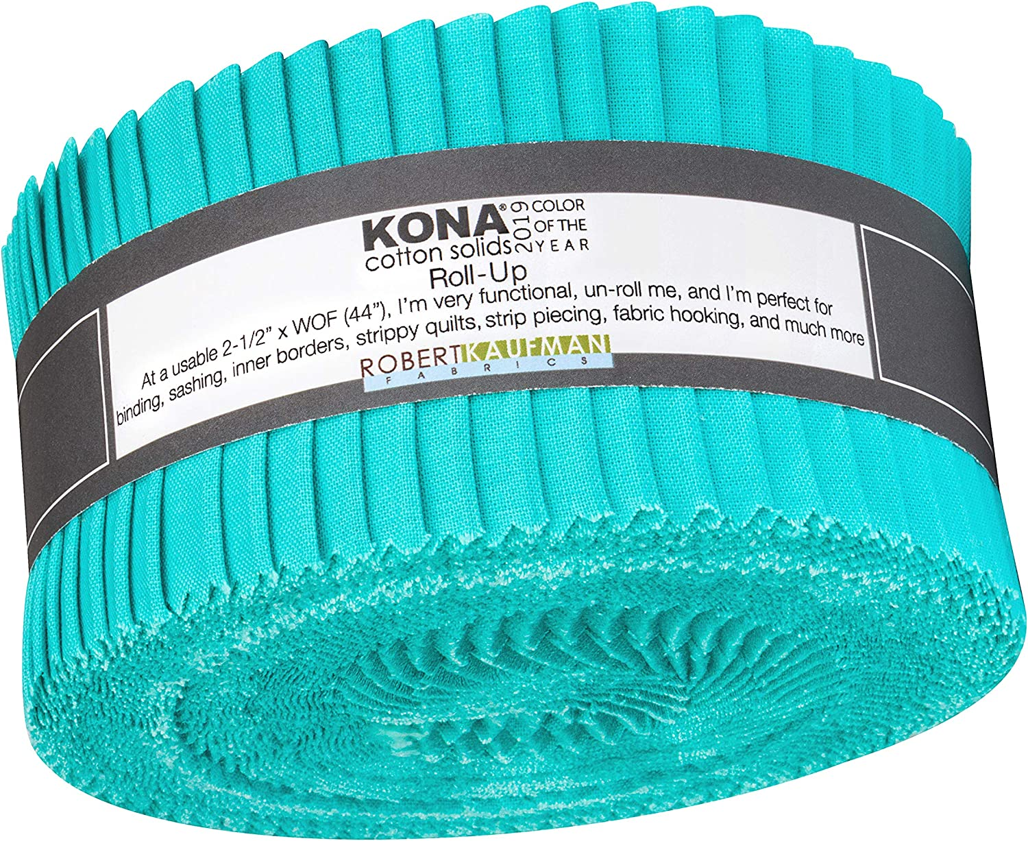 Kona Cotton Splash 2019 Color of the Year Quilt Fabric 2.5'' Roll Ups