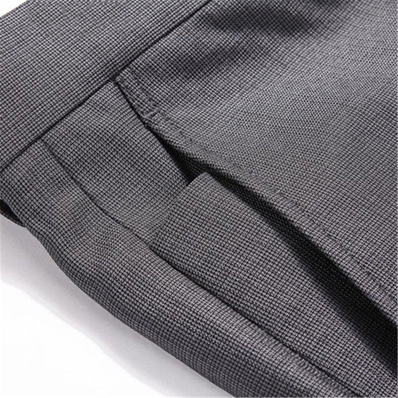 Dapengzhu Classic Dress Formal Business Wedding Grey Suit Pants Casual Slim Fit Male Cotton Trousers Plus Size 702B720787 Grey Pant 4 38 by Dapengzhu