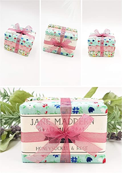 Jane Maddern jabón de cabra natural - Pack de tres jabones más vendidos de 90 g: el