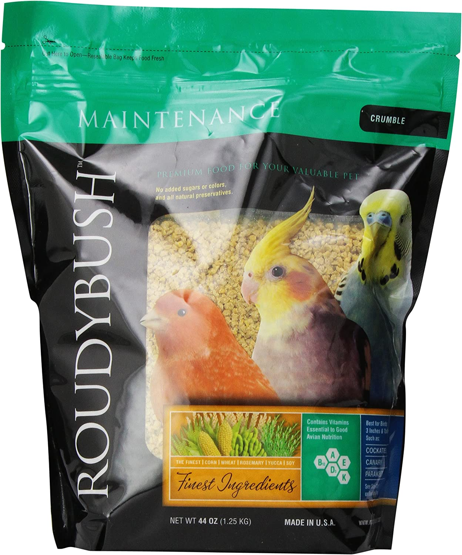 RoudyBush Daily Maintenance Bird Food, Crumbles, 44-Ounce, 2.75 lb (244CRDM)