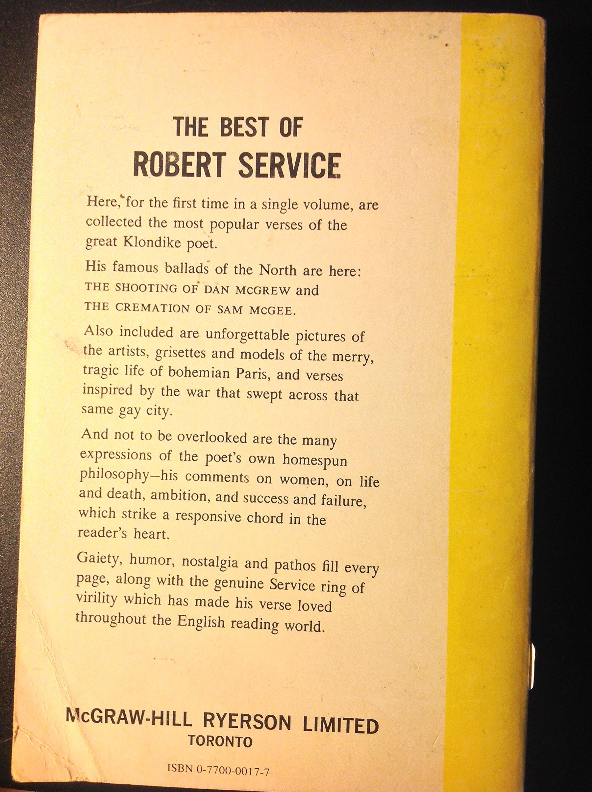 The Best Of Robert Service: Robert Service: 9780770000172: Amazon: Books