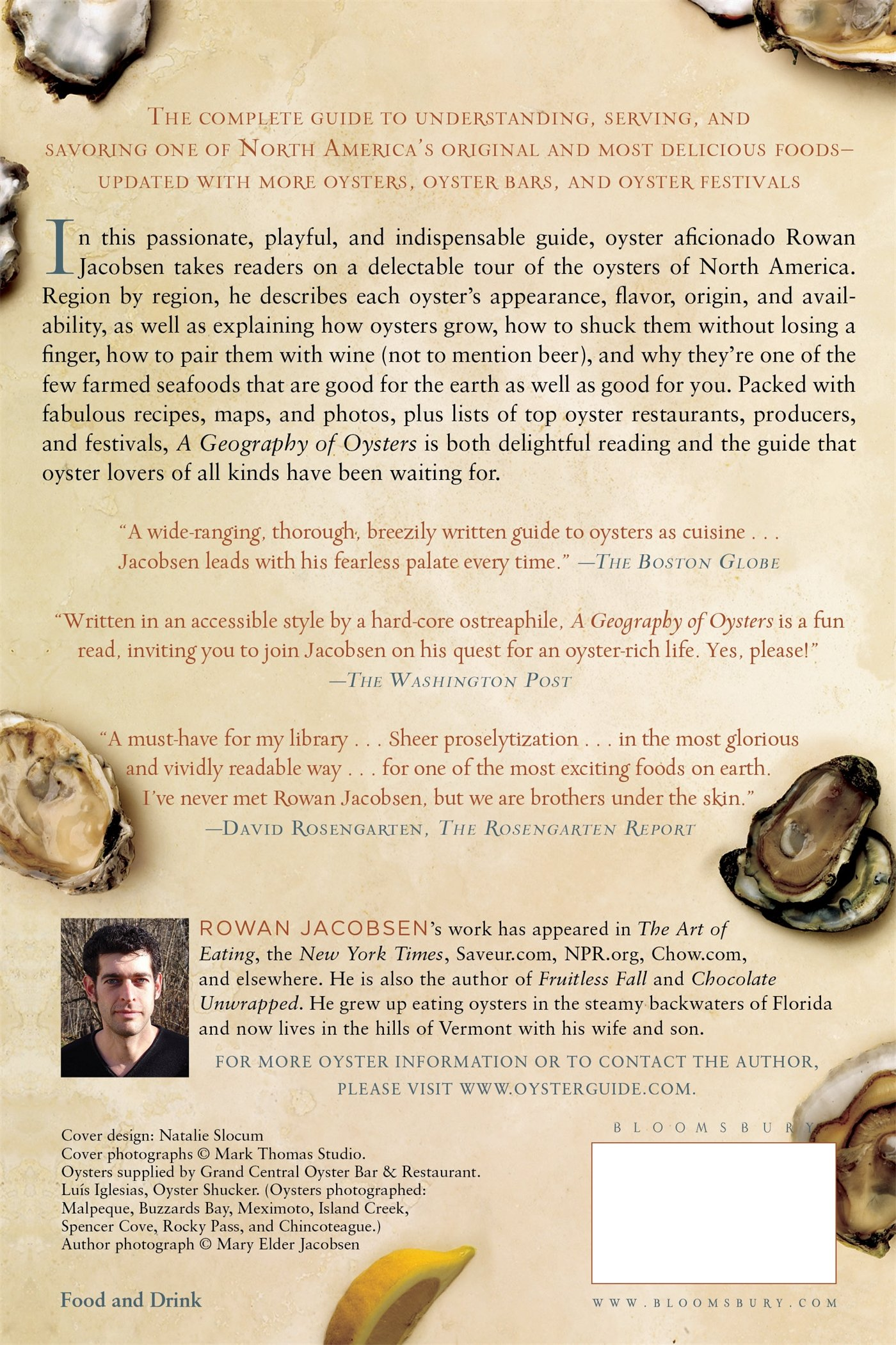 A Geography of Oysters: The Connoisseur's Guide to Oyster Eating in North  America: Rowan Jacobsen: 9781596915480: Amazon.com: Books