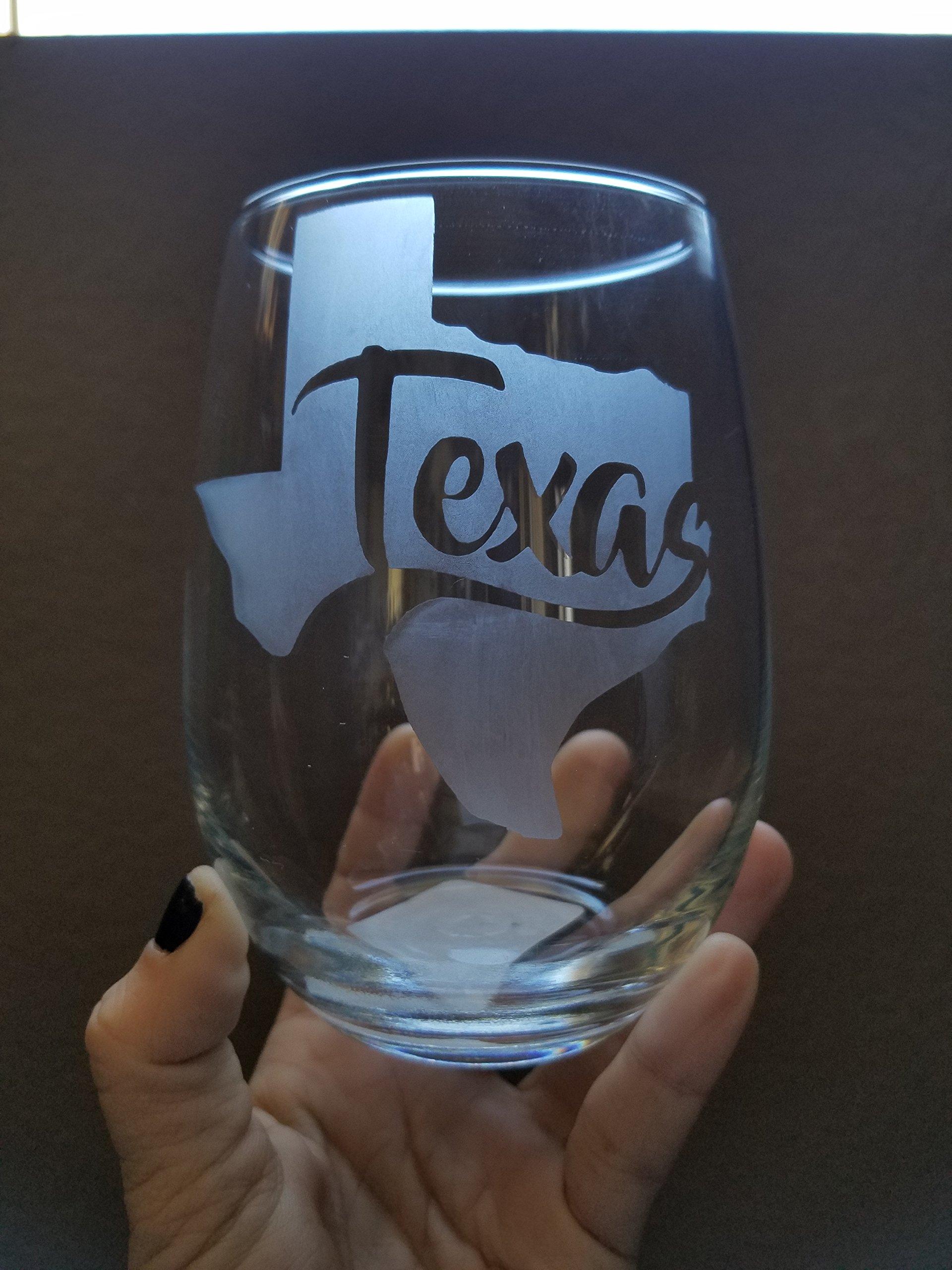 Texas Stemless Wine Glass White Wine Red Wine Glass