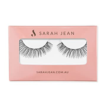 fa1ba7a0cce Amazon.com : Luscious Long Reusable Fake Eyelashes Invisible Band Style  SJ005 By Sarah Jean Glamour Lashes Soft Natural Looking Strands Lightweight  ...