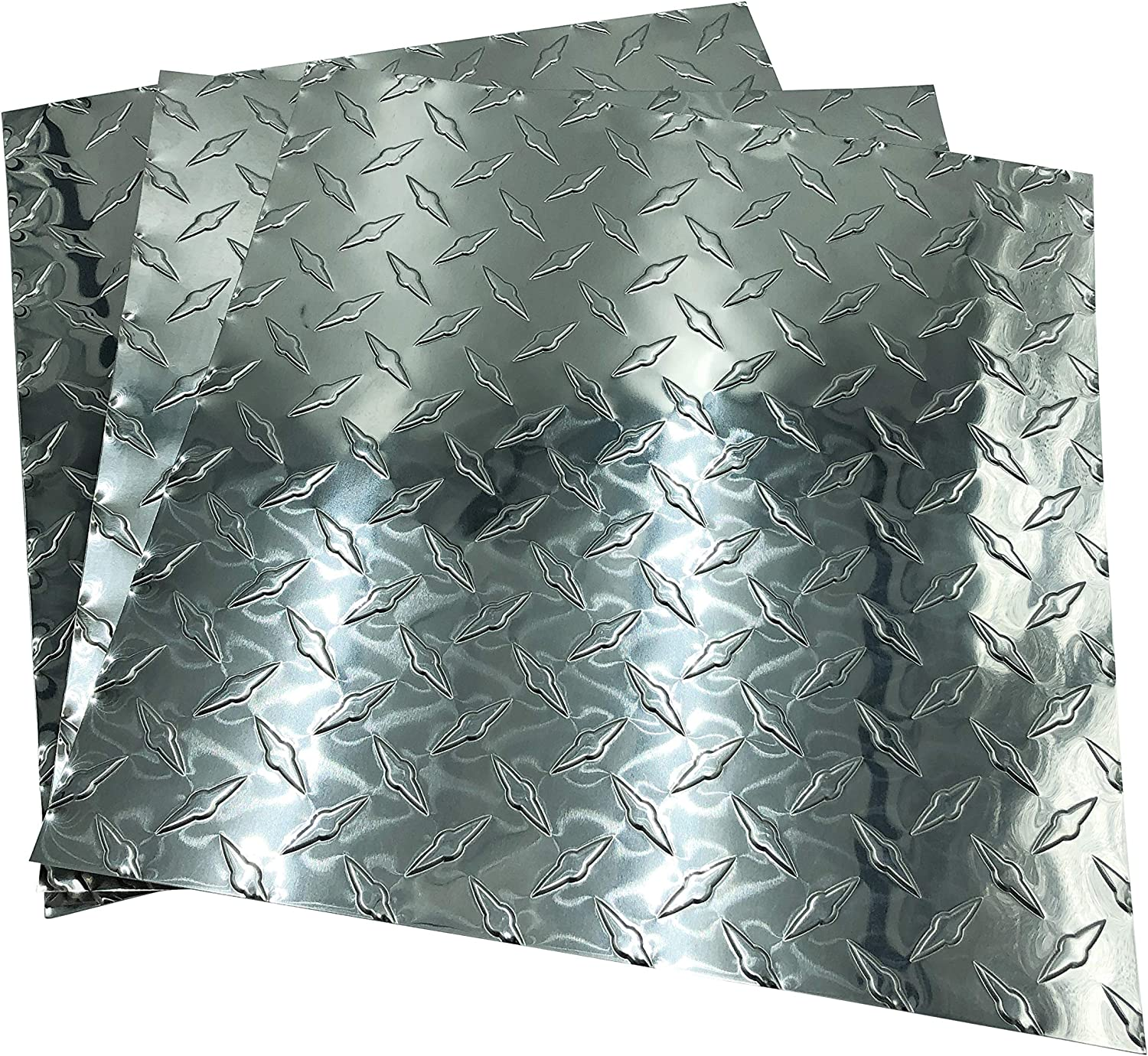 Eagle 1-0.025 Each Roll Includes 10 Free 1//8 Aluminum Rivets 1//8 Drill bit x 10 FT Long Embossed Aluminum Diamond Checker Plate Sheet//Rolls Thin 18 x 10 FT and a Pair of Nitrile Gloves