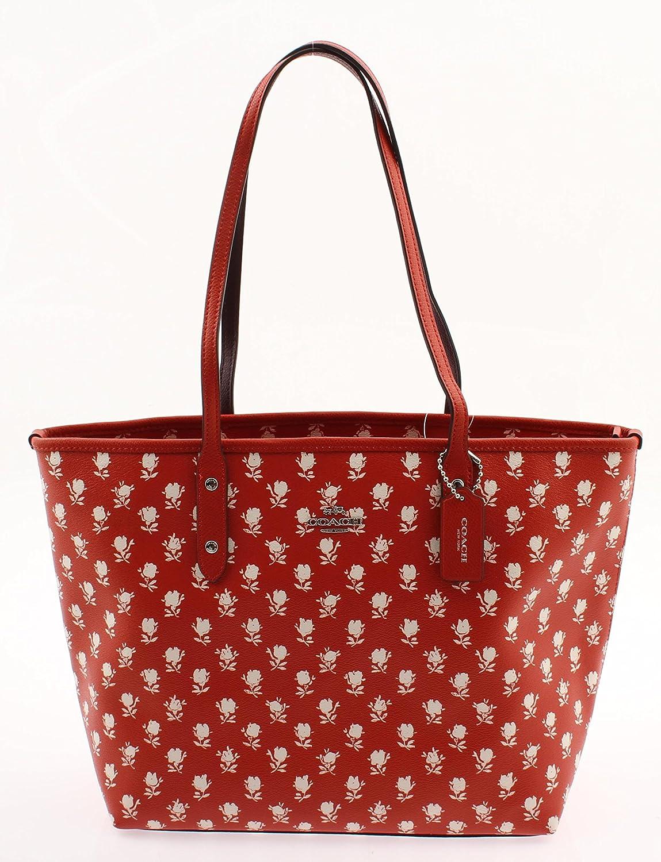Coach Badlands Print Floral City Zip Tote Handbag