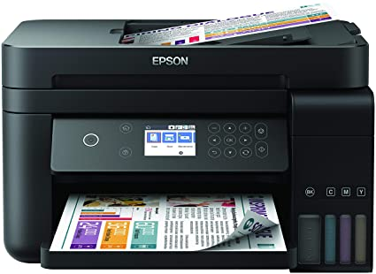 Epson EcoTank ET-3750 - Impresora, color negro, Ya disponible en Amazon Dash Replenishment