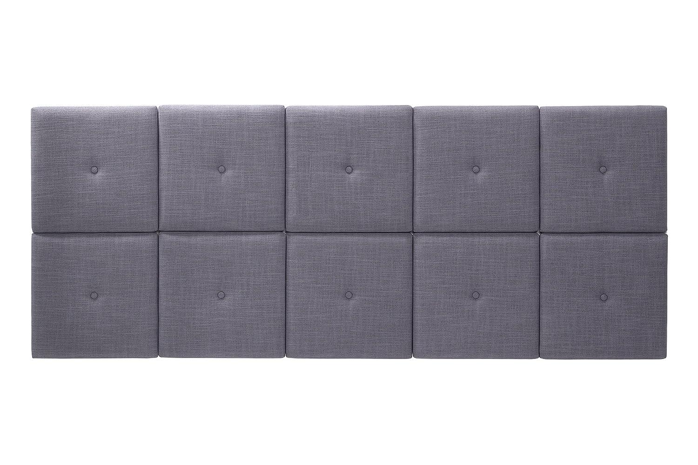Foremost THT-61013-PU-BRN-TWN 46.50 31-Inch PU with Tuft Headboard Tiles, Twin, Espresso, 46.5 x 31