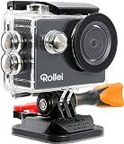 Rollei Actioncam 300 Plus, Risoluzione Video HD 720p, Alloggiamento Subacqueo fino a 40 Metri, Nero
