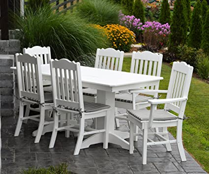 Amazon Com Patio Furniture Dining Set 6 Table With 4 Side