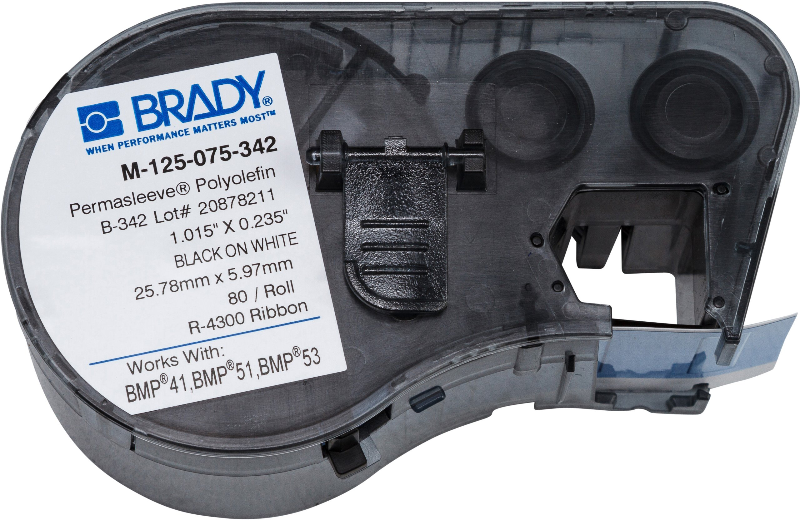 Brady M-125-075-342 Labels for BMP53/BMP51 Printers