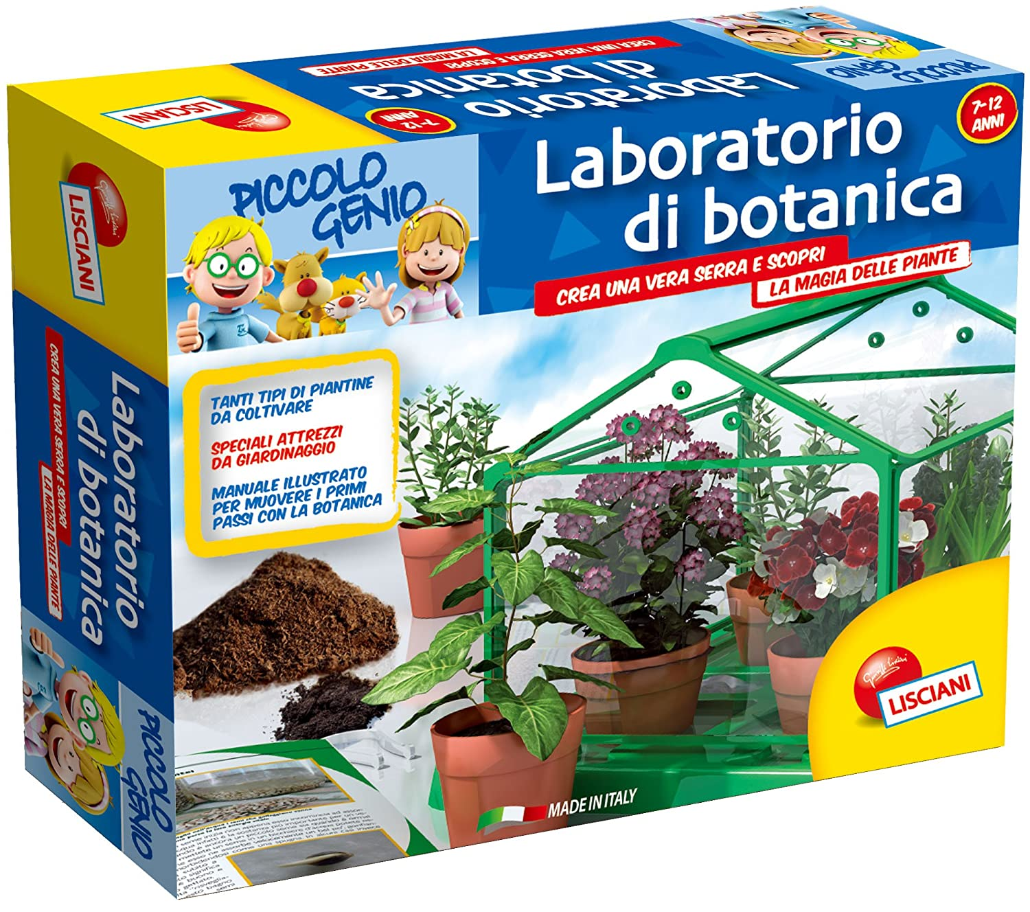 Connu Lisciani 46379 - Piccolo Genio Laboratorio di Botanica: Amazon.it  DS01