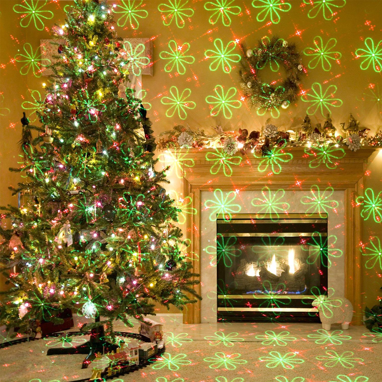 Amazon.com: Christmas Laser Lights Projector Landscape Lighting 20 ...