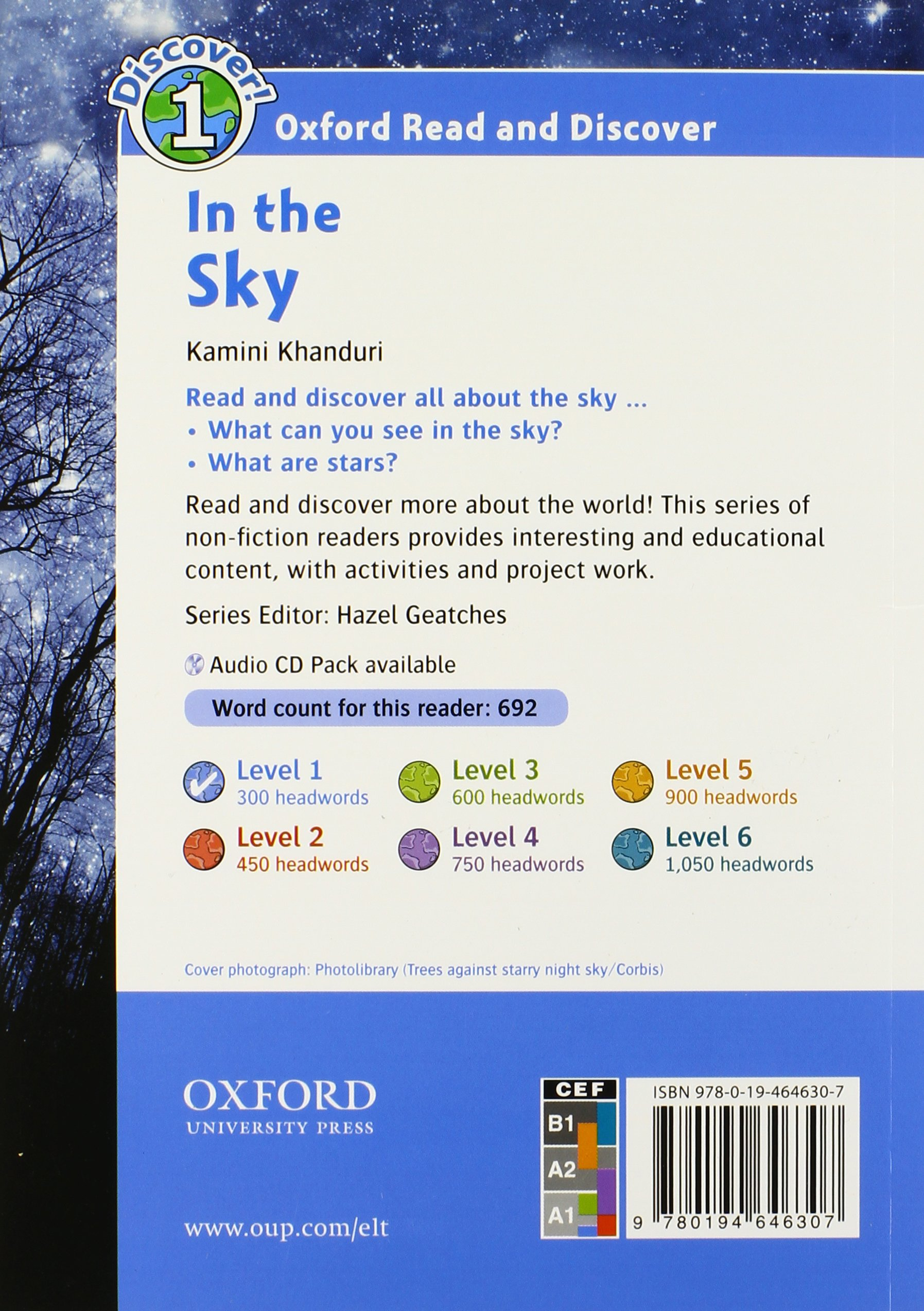 In the Sky Audio CD Pack (Oxford Read and Discover: Level 1)