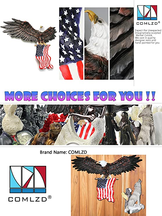 Patriotic Eagle Sculpture with National Flag Freedom/'s Pride Art Wall Decor 31 inch x 18 inch Patriotic Eagle Sculpture with National Flag Freedoms Pride Art Wall Decor COMLZD 3D American Eagle Wall Sculptures 31 inch x 18 inch