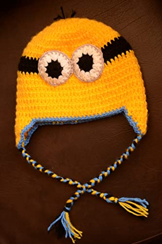Amazon Oriental Minion Inspired Crocheted Minion Hatearflaps