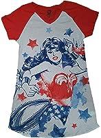 DC Comics Wonder Woman White Nightgown Long Sleep Shirt