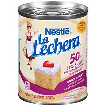 La Lechera 50% Less Sugar Sweetened Condensed Dairy Product, 14.1 oz