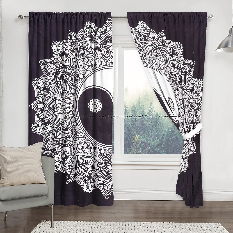 Mandala Indian Curtains Drapes Wall Decor Curtain Valances Cotton Tapestry Throw