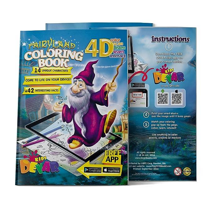Amazon Devar Kids Augemented Reality Fairy Land Coloring Book DevarKids Toys Games